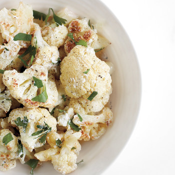 Roasted Cauliflower with Goat Cheese and Lemon