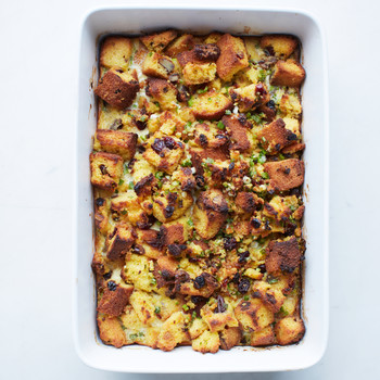 Dried-Fruit and Nut Cornbread Dressing