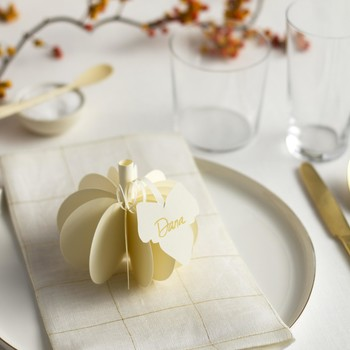 Cute as a DIY Pumpkin: Top Your Table with This 3-D Place Card
