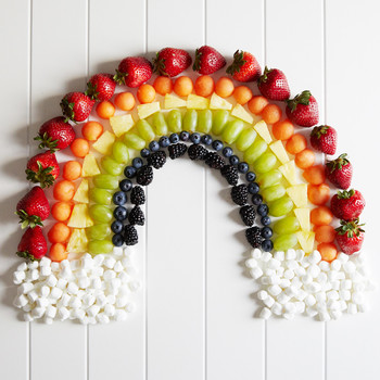 fruit platter rainbow