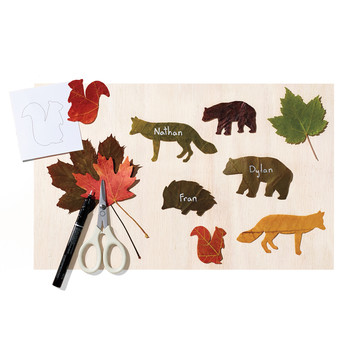 Leaf Animal Place Cards