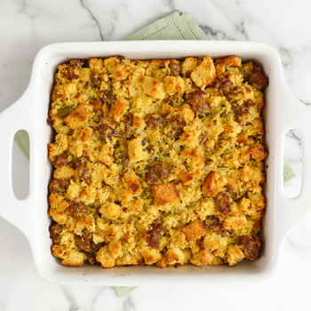 Watch: Cornbread and Sausage Stuffing