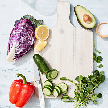 vegetables cutting board