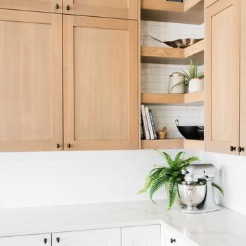 oak point kitchen two tone cabinets