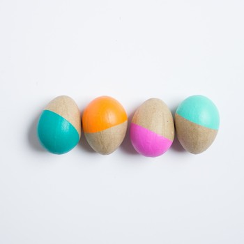 Say Bye-Bye to Dye! Introducing Painted Papier-Mache Easter Eggs