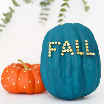 pushpin pumpkins diy
