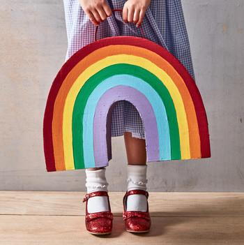 rainbow treat bag for Halloween