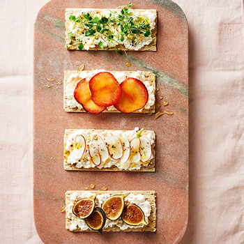 Healthy snack recipes martha stewart 4 fresh colorful snacks starring cottage cheese sisterspd