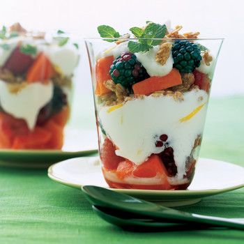 Papaya-Berry Yogurt Parfaits