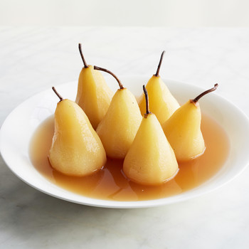 Poached Pears with Riesling