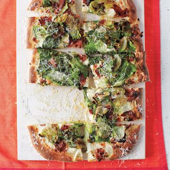 Bacon-and-Escarole Pizza