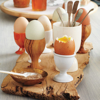 Soft-Cooked Eggs with Coriander Salt