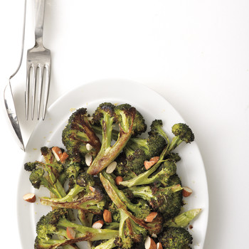 Roasted Broccoli with Lemon and Almonds