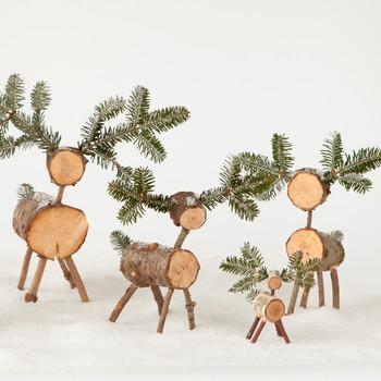 Christmas-Tree Deer Craft