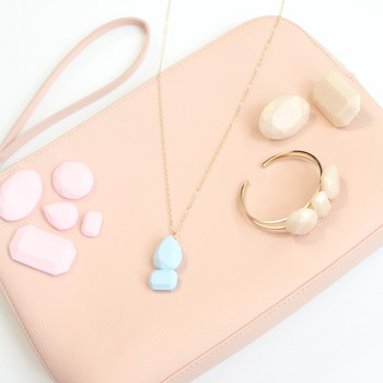 DIY clay gemstone accessories