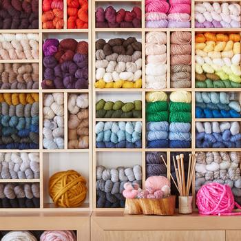 Colorful Wall of Yarn
