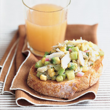 Cucumber, Corn, and Crab Salad