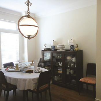 dining room makeover before