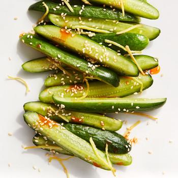 garlic ginger cucumber