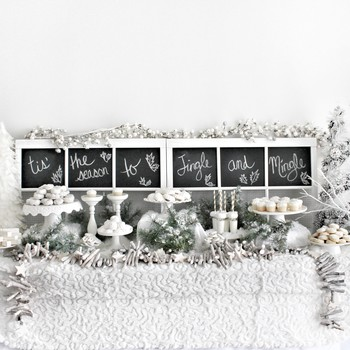 winter white dessert bar