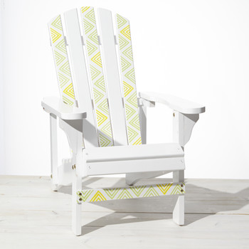 Stenciled Adirondack Chairs