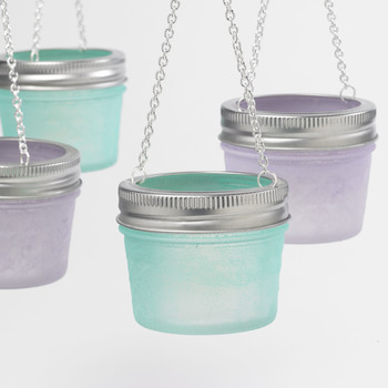 seaglass votive craft
