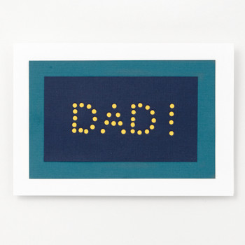 Dad! Hole Punch Father's Day Card