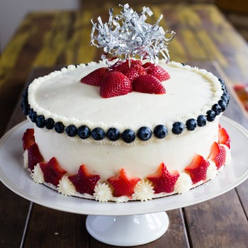 Star-Spangled Strawberry Cake