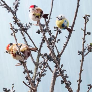 miniature decorative pom pom song birds