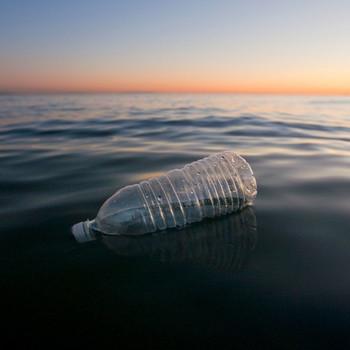 Bottle Floating in the Ocean