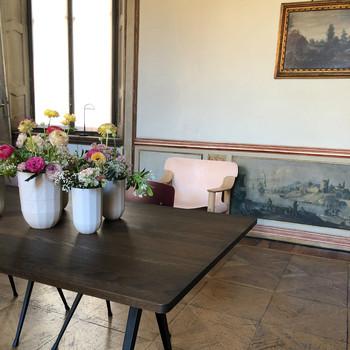 沙龙di移动粉红色的椅子