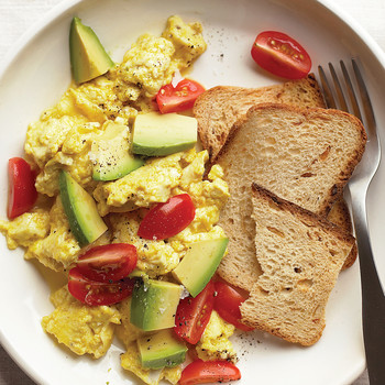 Tofu Egg Scramble with Avocado