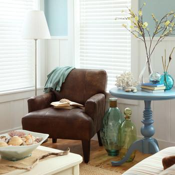 beach themed decor living room space