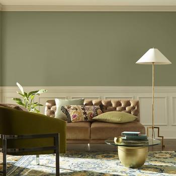 green paint living room
