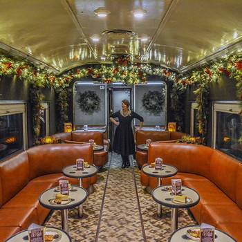 vintage Christmas train ride