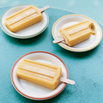 Coconut-Mango Ice Pops