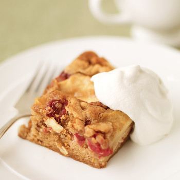 Cranberry-Pear Cake Bars