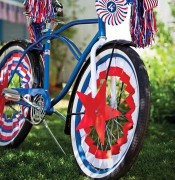 Fourth of July Bike Clip Art