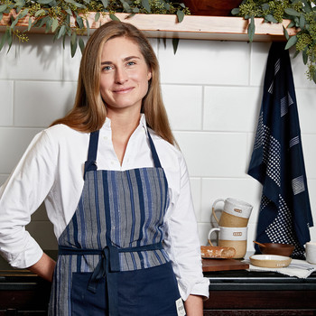 FEED brand founder and CEO Lauren Bush Lauren in kitchen
