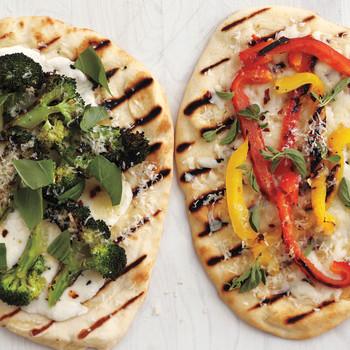 Grilled Broccoli Flatbread Pizzas