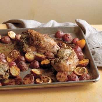 Chicken Breasts with Parsley-Caper Pesto