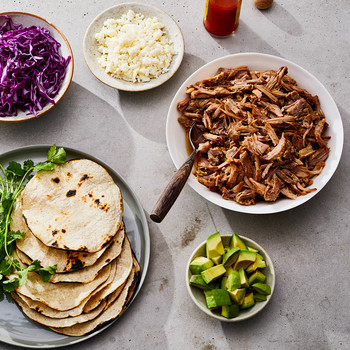 instant pot carnitas cabbage tortillas