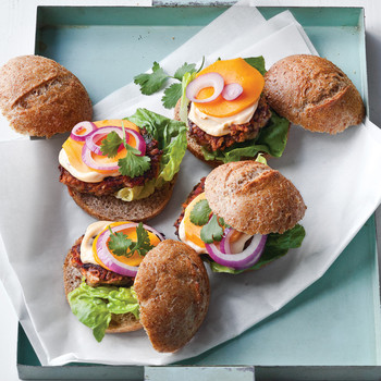 bean and veggie sliders