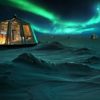 Northern Lights in the North Pole