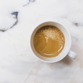 Overhead shot of espresso