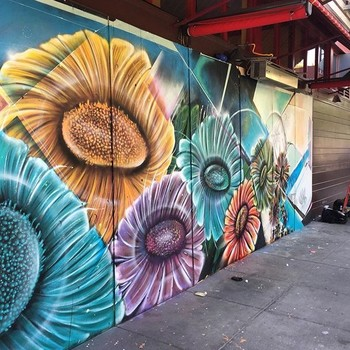flower mural by Paint the Void Project