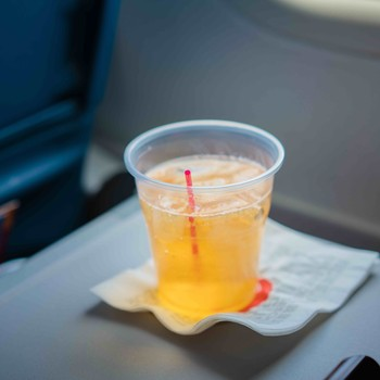 plastic straw airline