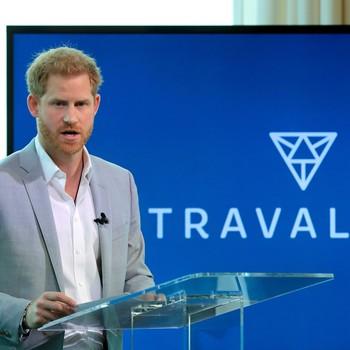 Prince Harry speaking on new sustainable travel organization