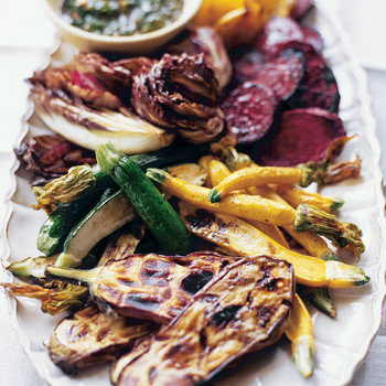 Grilled Vegetables with Herb Vinaigrette