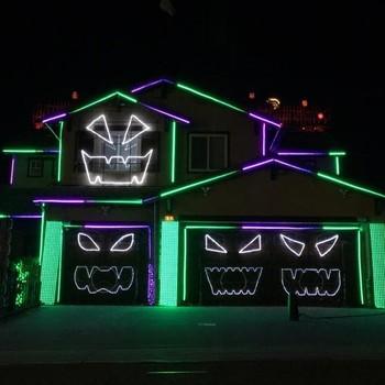 "A ""Rocky Horror"" themed Halloween light show"
